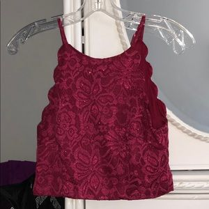 Two-piece Magenta Homecoming Dress